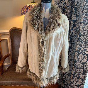 ESprit Vintage 90 Y2K corduroy faux fur jacket XL